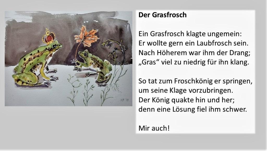 Der Grasfrosch - Illustrierte Gedichte von Berndt Baumgart