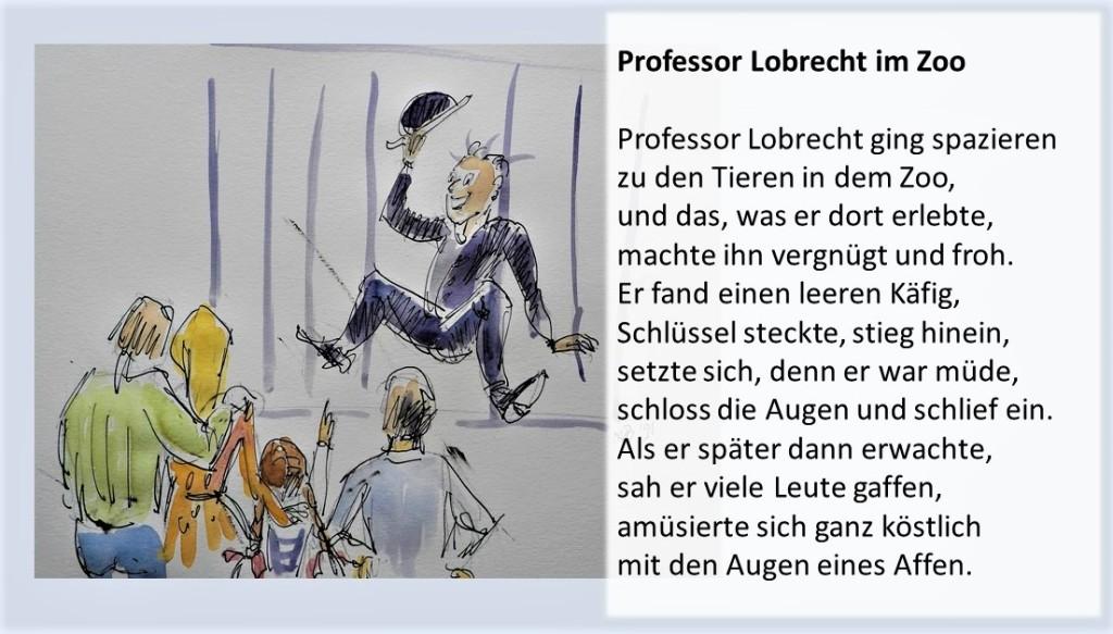 Illustrierte Gedichte von Berndt Baumgart - Professor Lobrecht im Zoo