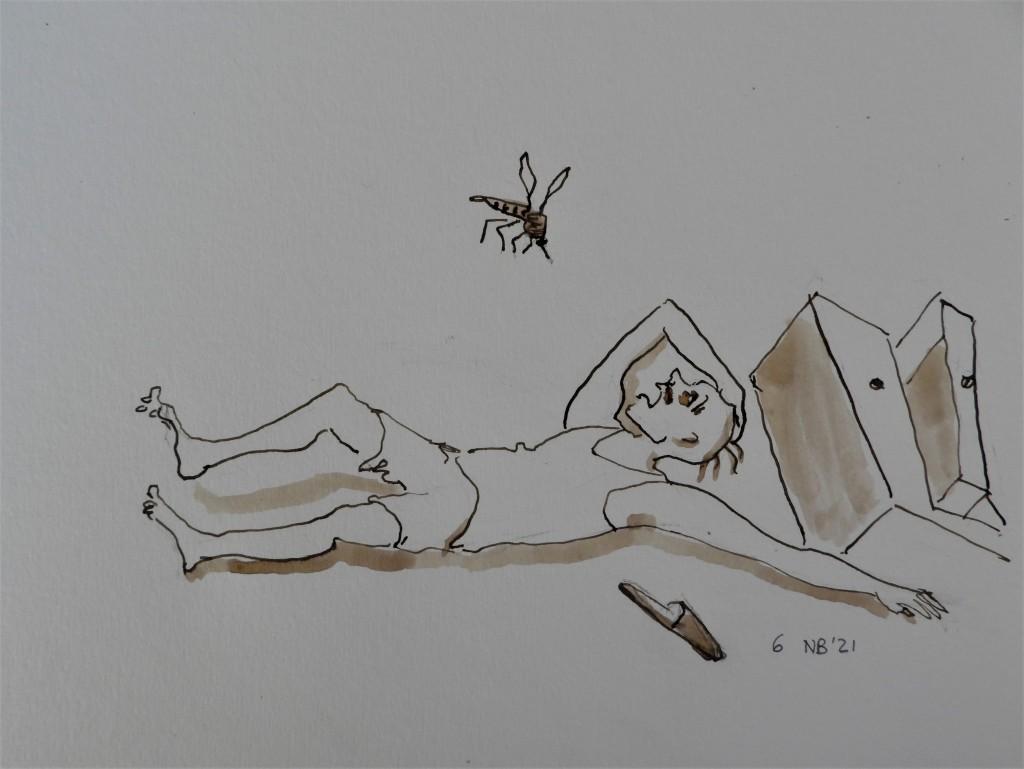 """Illustration zum Gedicht von Berndt Baumgart """"Die Mücke"""""""